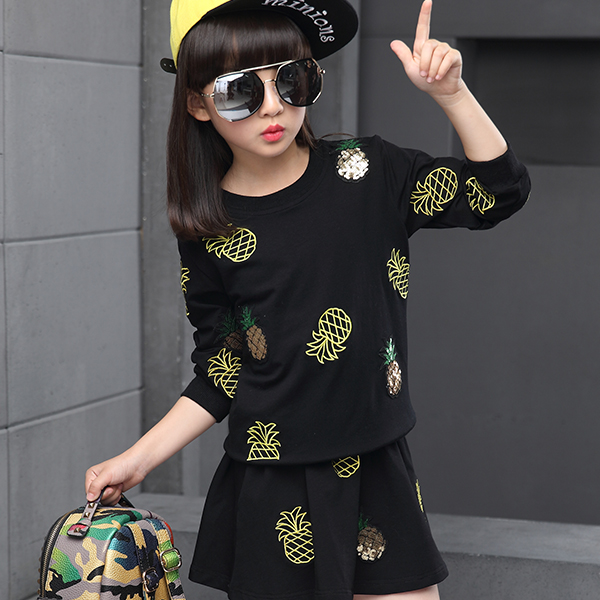 Autumn 2016 Hot High Quality New Model Fashionable Girl Pineapple Sets