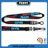 Good quality silk screen printed polyeater lanyard with custom logo