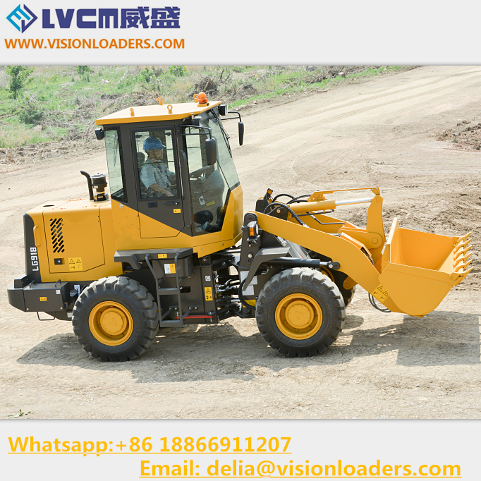 Mini Wheel loader LG918 Chinese Cheap loader LG918 with 1.0M3 Bucket