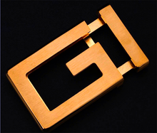whole solid brass smooth simple letter belt buckles fashion 35mm copper belt buckles factory