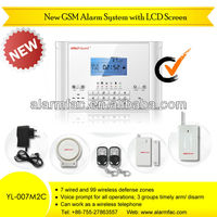 hot sale latest 99 GSM Alarm system alaram YL-007M2C wireless alarms burglar alarms