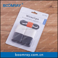 Boomray factory medium colorful and carry-home cable clips long plastic clip