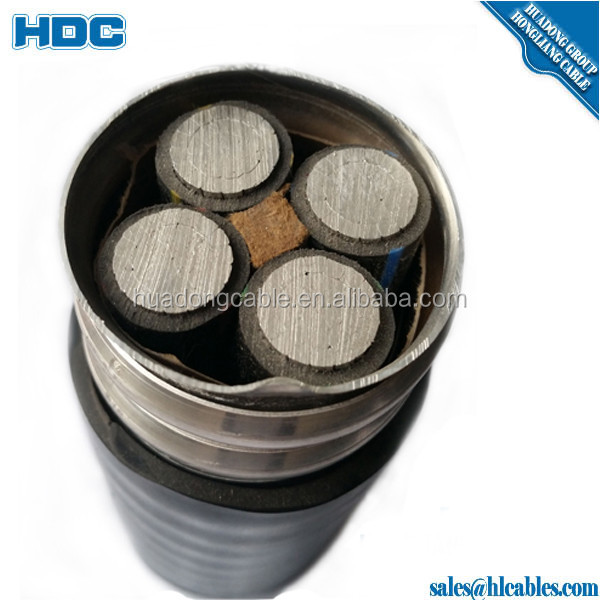 600/1000V Metal Clad MC armored cable MC/BX cable 12/2 Aluminum interlocking Armour Cable