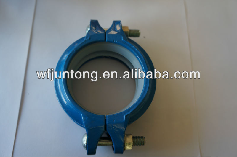 "FM approved ductile iron 1""-12""grooved coupling and fittings"