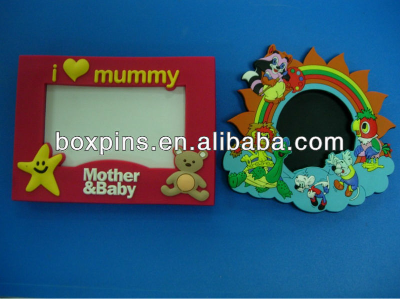 cute cartoon advitise soft pvc photo frame magnet stand