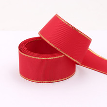 5cm 3 inch white red black gold grosgrain ribbon