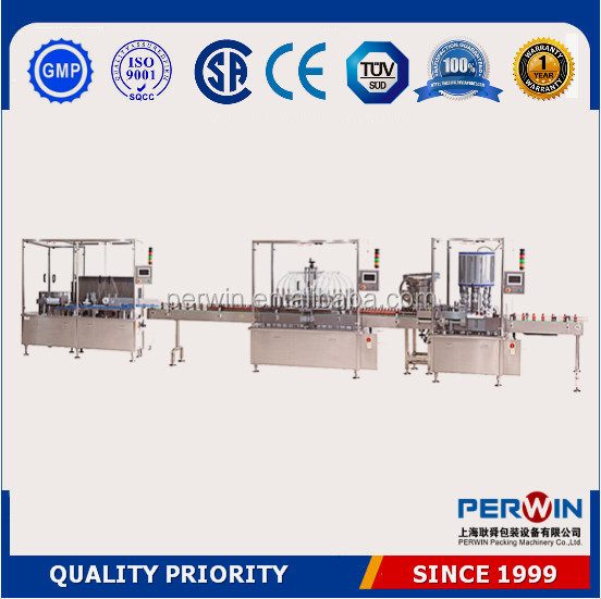 Shanghai factory auto glass bottle filling machine,liquid filling and sealing machine