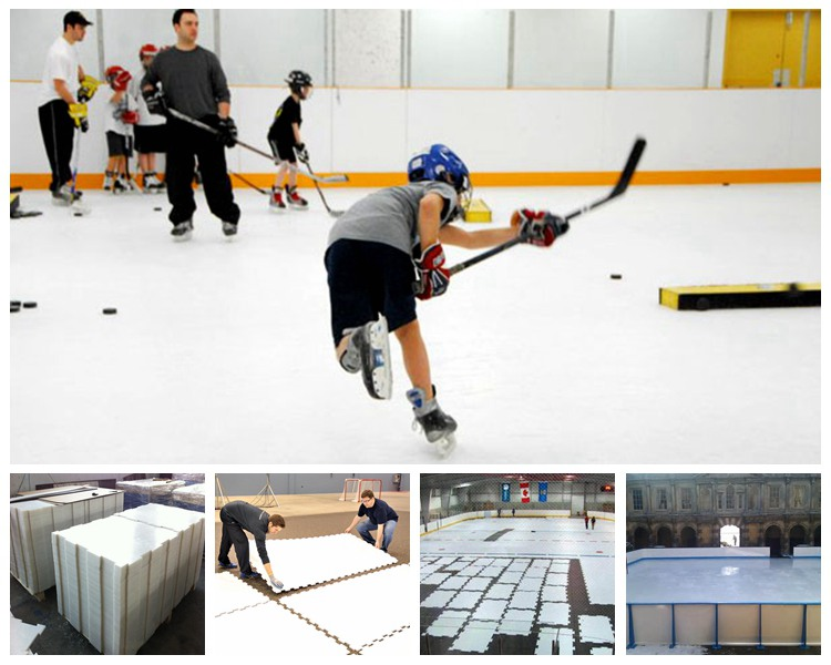 HDPE plastic hockey shooting pads/ artificial ice skating rink/ abrasion resistant HDPE synthetic ice rink sheet