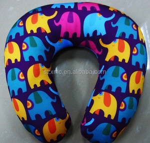 microbead pillow travel spandex printed pillow wholesale u shape pillow
