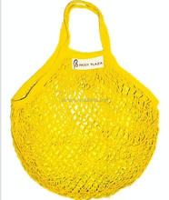 Reusable foldable string cotton net mesh fabric shopping produce bag