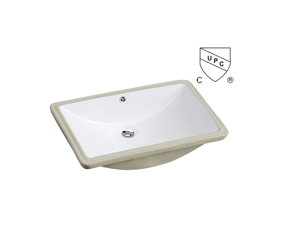 china supplier cUPC rectangular undermount bathroom sink in white