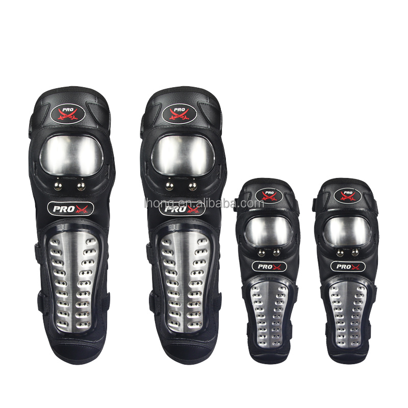 Strong Protective Metal Knees Elbows Motorcycle Protector Guard Pads Have Long and Short Style