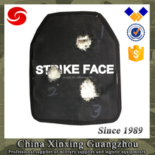 PE Anti bullet ceramic plate Jacket vest armor plate for front back side