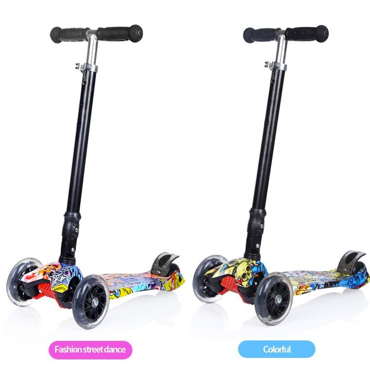 Leisure sports product high quality PU Wheel child scooter folding and adjustable kick scooter for kids