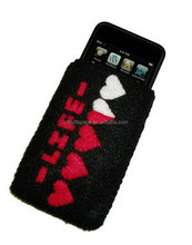 2017 hot sale eco friendly new products handmade promotional fabric felt rock phone case on alibaba express