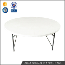 6FT Round Folding table for dinner or wedding