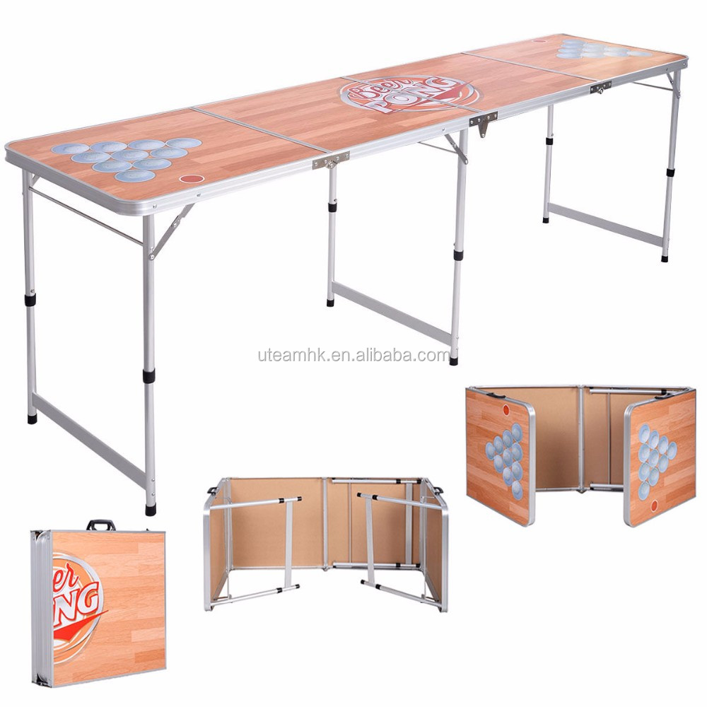 folding aluminum beer pong <strong>table</strong> manufacturer
