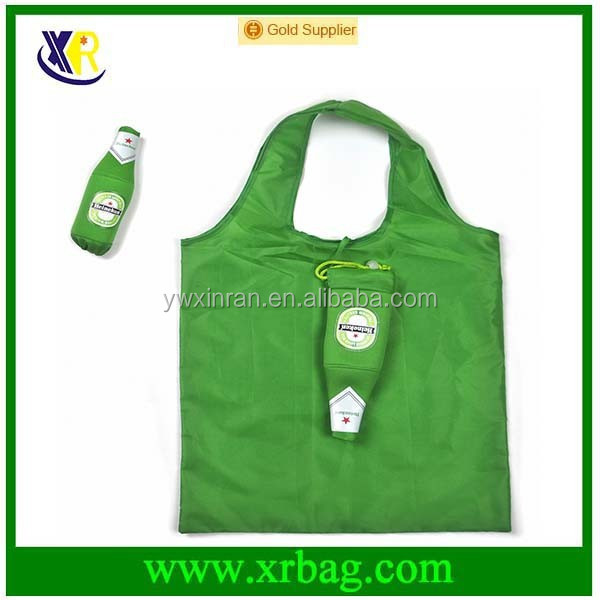 fashion hot bottle shaped folding reusable shopping bag