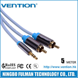 Vention Y RCA Cable 3.5mm Male to 2 RCA jack Cable 5m 15ft