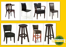 Variety of gastronomy seats, restaurant seats, secondhand and new