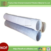 Polyester nonwoven bag filter for Ferrous Metallurgy Finished screening Storage