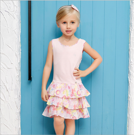 Fashion Girl Kids Clothes Dress Skirt 2016 Latest Model