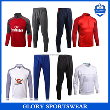 Wholesale top thai quality soccer training tracksuit cheap sublimated soccer tracksuit