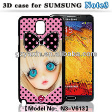 Custom case cover for samsung galaxy note3,protective 3D case for samsung galaxy note3 n9000