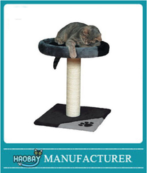 HaoBay Tarifa Scratching Post 52 Cm Grey / Black Pet Supplies With Plush