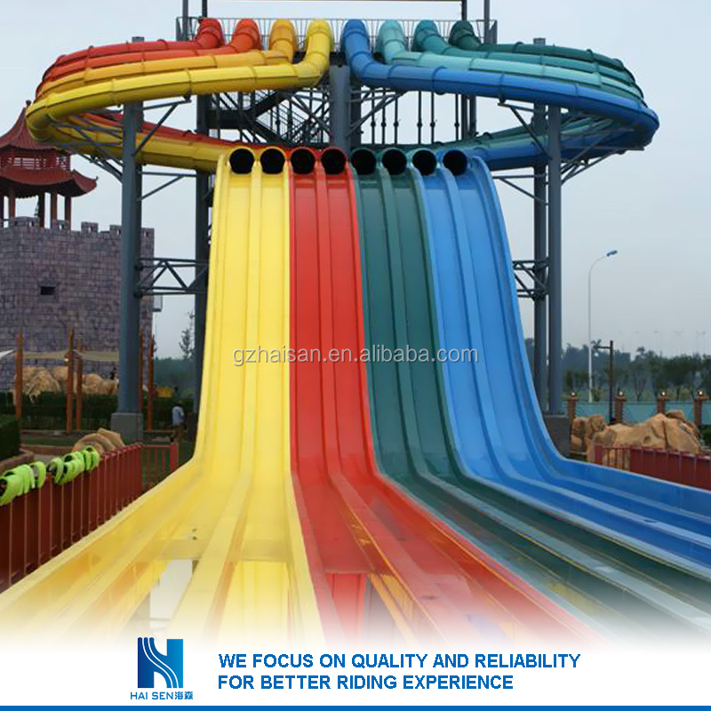 2016 China factory supply red aqua slides for sale