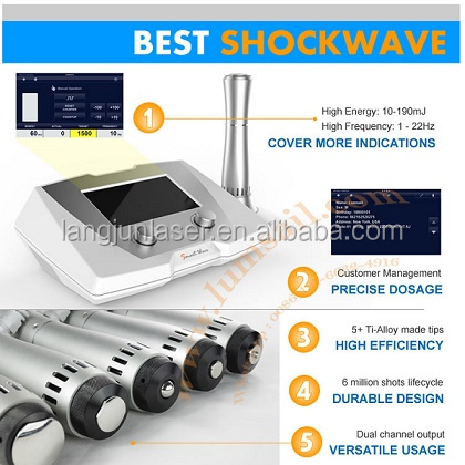 Physio Clinics Use Medical Equipement SWT Extracorporeal Shock Wave Electromagnetic Shockwave Therapy Equipment