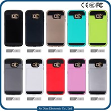 Mobile Accessories Fancy Design Offer Sample Super Fiber TPU PC Cell Phone Case Cover for Samsung S6
