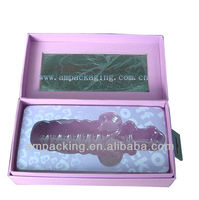 Dongguan factory handmade paper box with foam insert sex toy gift box