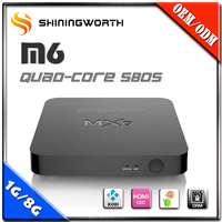 Top Selling s805 KODI Android 4.4 OS m5 Quad Core Linux Smart TV Box AV Output Android TV Box Wholesale