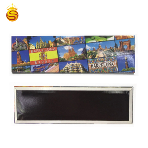 Hot Sales Personalized Souvenir Printed Paper Premium Tinplate Fridge Magnet