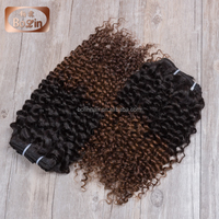 celebrity 19 brazilian deep curly ombre hair weave 2 tone color ombre hair