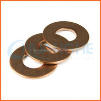 Factory price yellow zinc coated flat washer