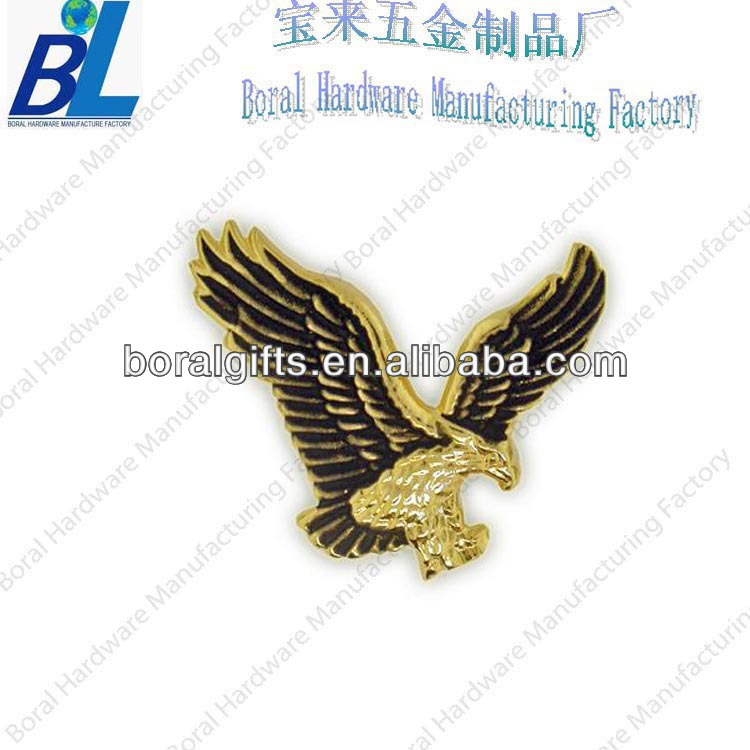 3D antique metal emblem eagle