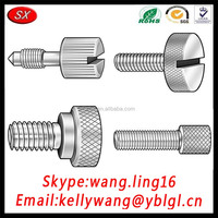 Custom aluminum/brass/stainless steel knurled cap screw,brass knurled thumb screw,knurled thumb screw m4