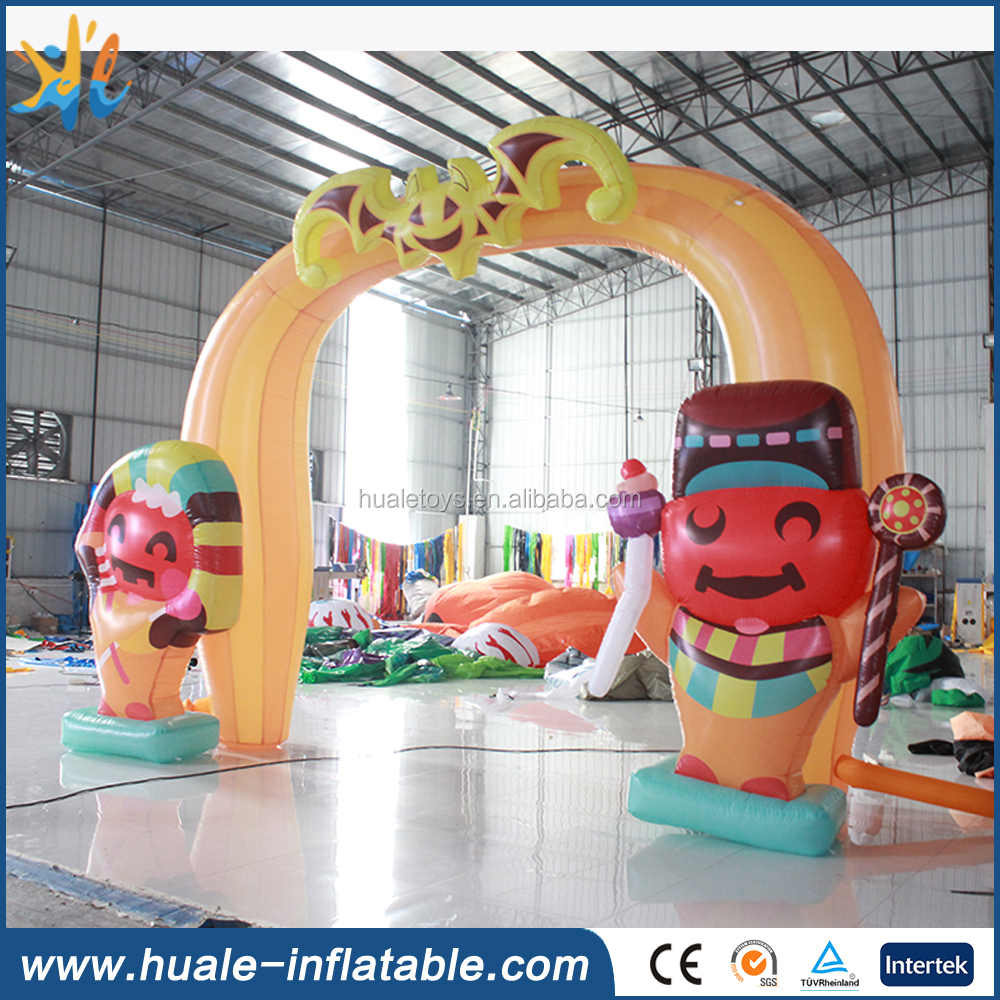 Inflatable two cute cartoons arch for sale