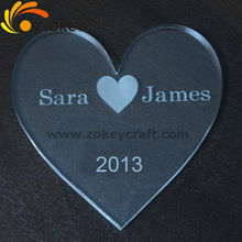 nice decoration Heart Shaped Personalized Cake Topper Wedding Decoration Favors
