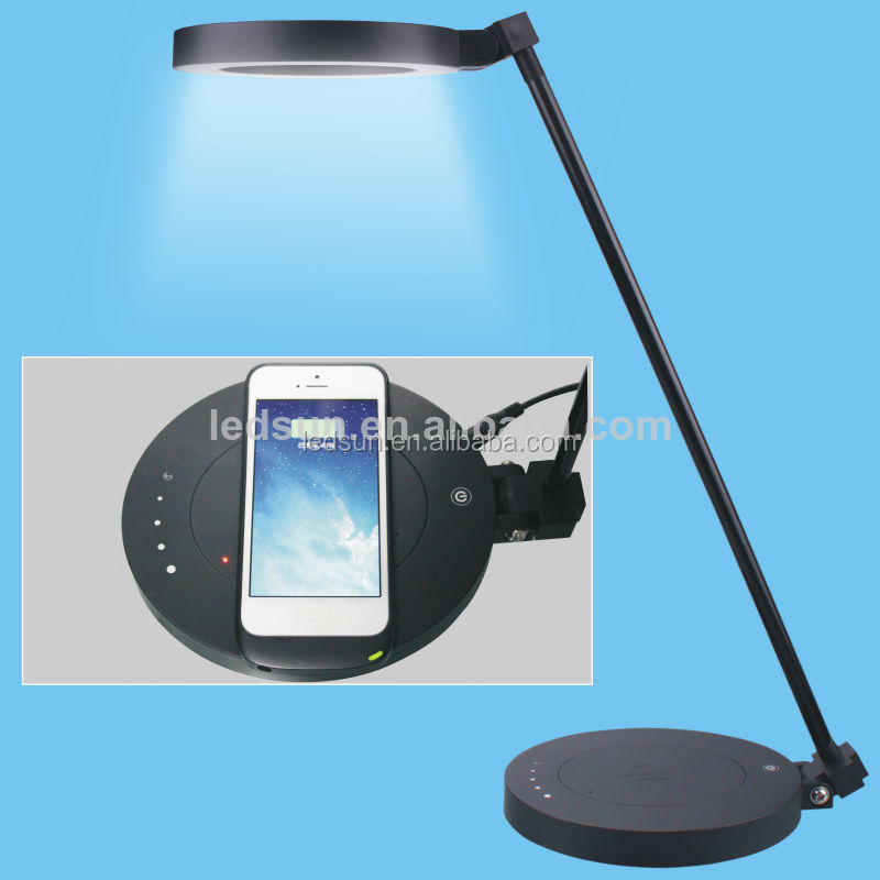 led wireless home desk lamp , rechargeable LED table light for night reading book light