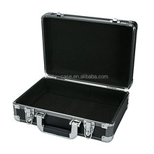 China Industrial Tool Case Gun Metal Aluminum Hard Case Dark Grey Professional Finish Folding Tools Case