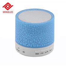 Portable mini wireless digital loud bass computer speaker with led light