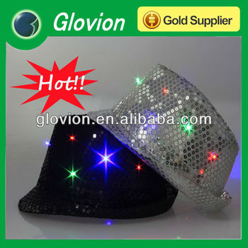 Party decoration hats with led infrared led hat led lighted hats and caps