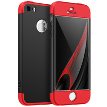 3 in 1 Full 360 Degress PC Hard Protect Back Case Cover For iPhone 5
