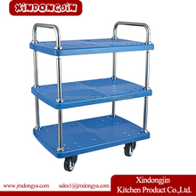 HP-6 Plastic Food Service Transport Trolley Cart With Wheel