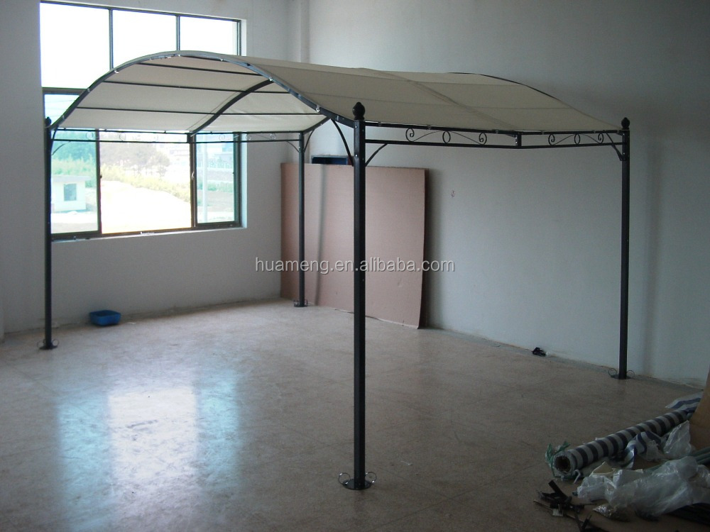 arched roof metal garden pergola gazebo 3x3m