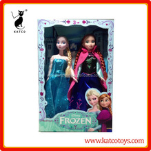 "Hot sell Frozen Princess 11.5"" Joint Moveable Frozen Elsa & Frozen Anna Frozen Doll"