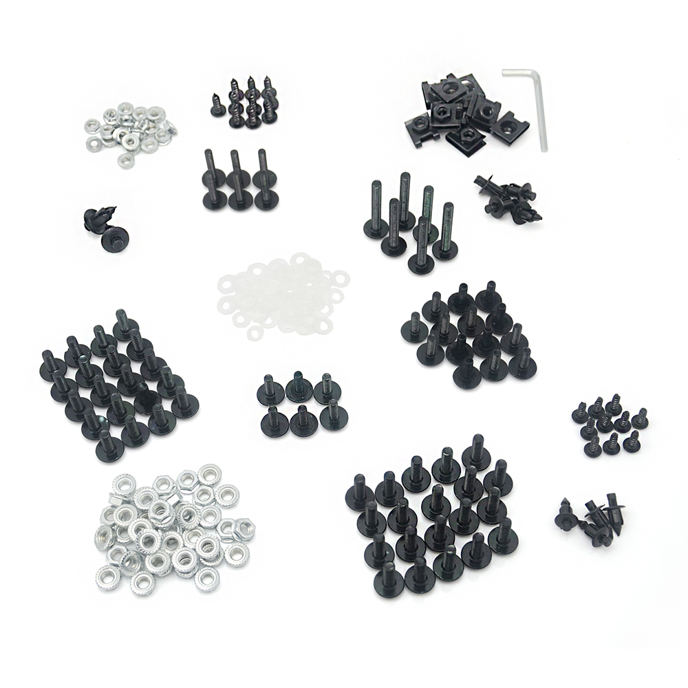 CNC Aluminium Fairing Bolts Clips Screws Hardware For Honda Suzuki Kawasaki Yamaha Motorcycle Fairings Black Silver Bolt Kit